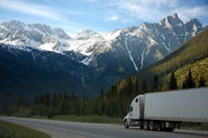 white truck mountains